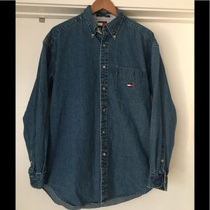 Vtg. Tommy Hilfiger Denim Button Up